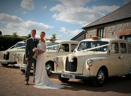 White London Taxi wedding car hire in Camberley