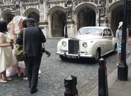 Classic 1950s Rolls Royce wedding car in Egham