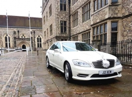 S Class Mercedes for weddings in Cirencester