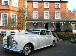 White Rolls Royce Silver Cloud for weddings in Bromley