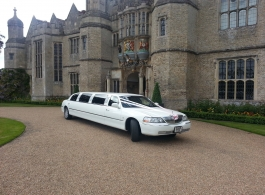 White Limousine for weddingd in Chelmsford