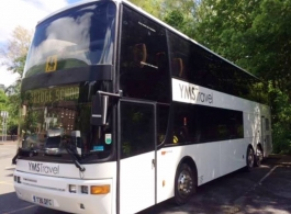 Modern wedding bus hire in Maidstone, Kent