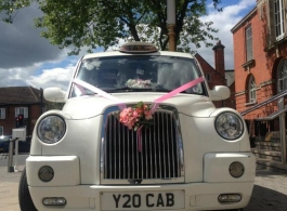 White wedding Taxi in Manchester