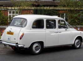 Classic London cab for wedding hire in Hook