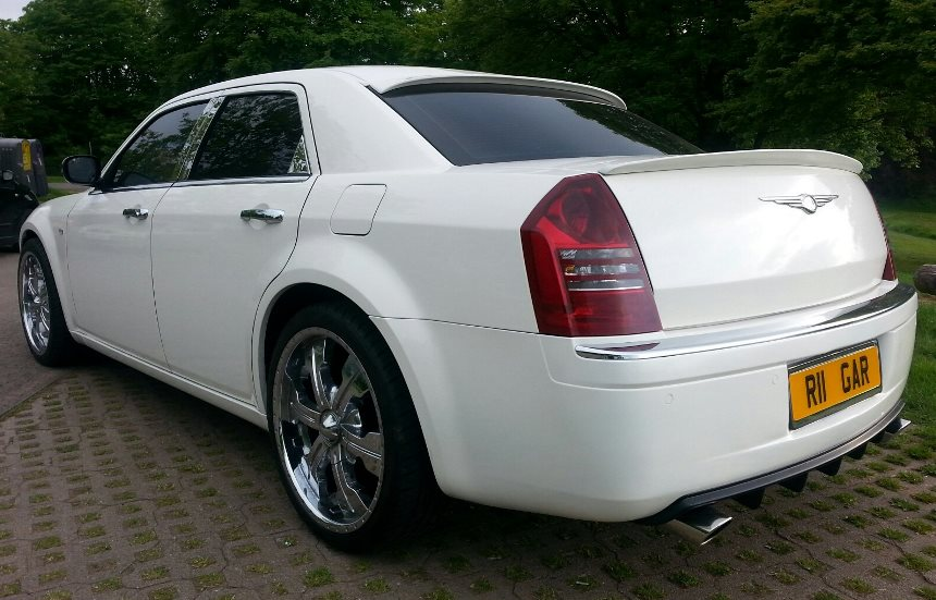 Chrysler 300 White Chrysler Wedding Car In Newport Gwent