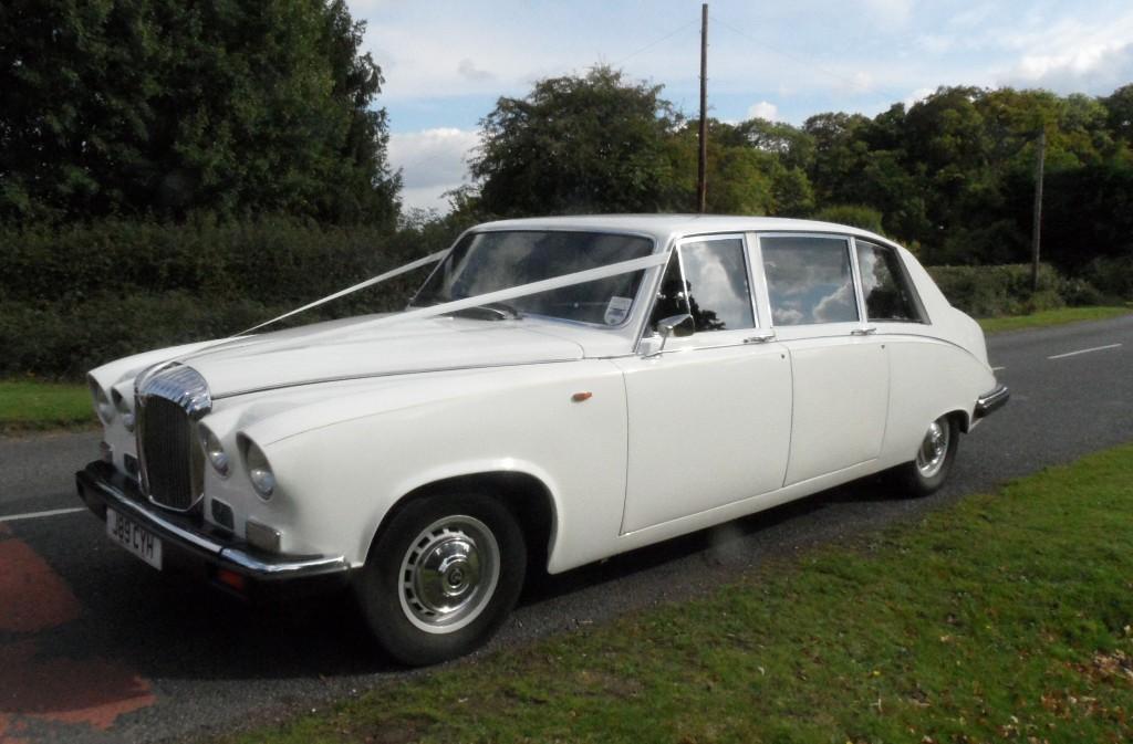 White Daimler Wedding Car   Classic Daimler Wedding Car In Southampton